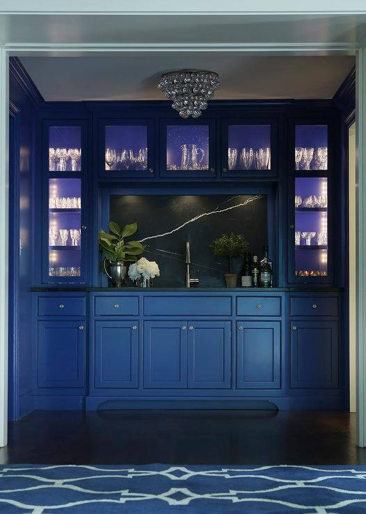 Gray Blue Kitchen Cabinets  Contemporary  kitchen  Thom