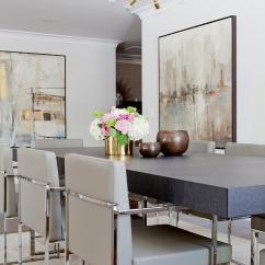 Tufted Side Chair Little Mermaid Wood And Chrome Dining Table With Gray Chairs - Contemporary Room