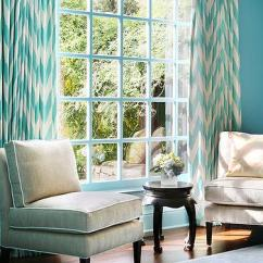 Chevron Living Room Curtains Lounge Chairs For Design Ideas Blue Sitting With Turquoise