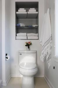 Recessed Shelves Over Toilet - Transitional - Bathroom