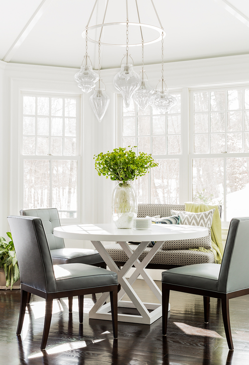 Bay Window with Built In Dining Bench  Transitional