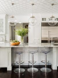 White Kitchen with Regina Andrew Large Globe Pendants and ...