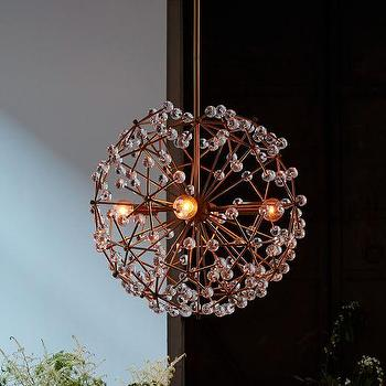 Acrylic Beads Cooper Round Chandelier
