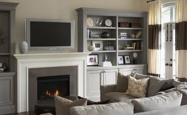 Grey Living Room Cabinet Zion Star