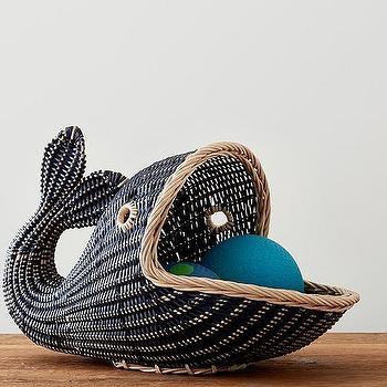 Pink Fish Shape Basket