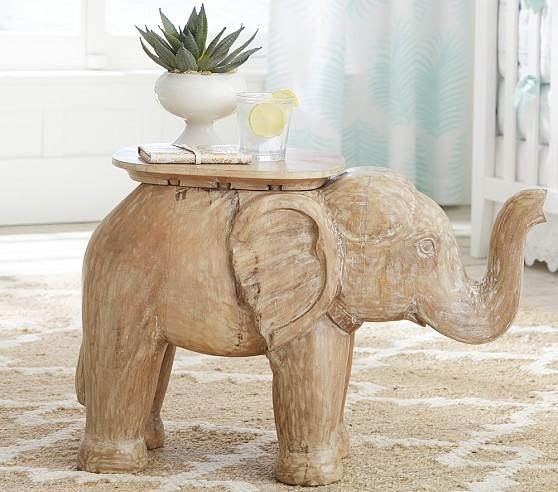 Brown Elephant Side Table