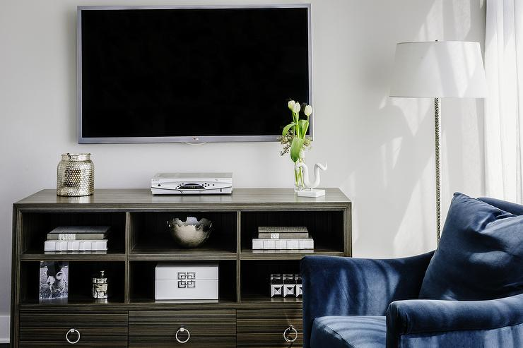 TV Cabinet with Stacked Open Shelves  Transitional