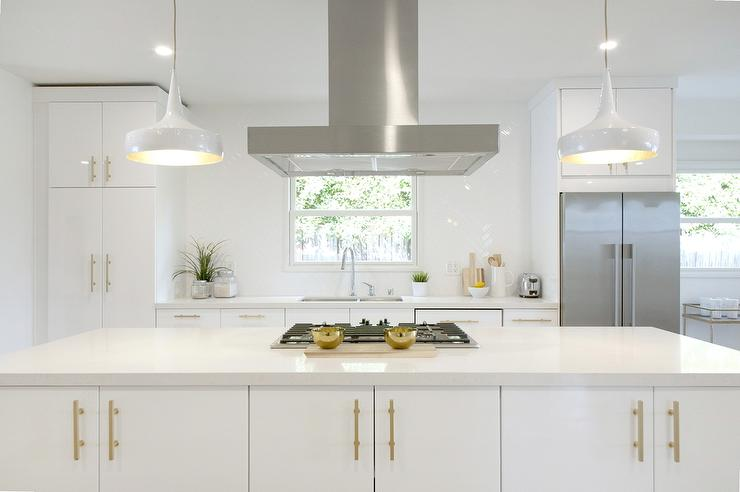 kitchen pulls food storage white and gold with long brushed brass contemporary