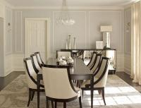 Cream and Brown Dining Room with Brown Bone Inlay Dining ...