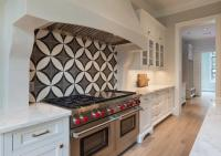 KItchen Cooktop with Black and White Cement Circle ...