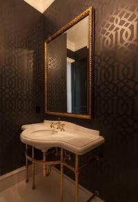 Imperial Trellis Wallpaper - Eclectic - bathroom - House ...
