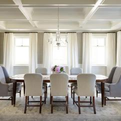 Oval Back Dining Room Chairs Walmart Plastic Inspiration Design Ideas Of This Gorgeous Transitional Featuring A Long Wood Table Surrounded By Upholstered Light Gray And