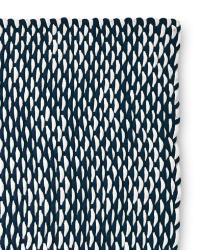 Navy and White Woven Rope Rug