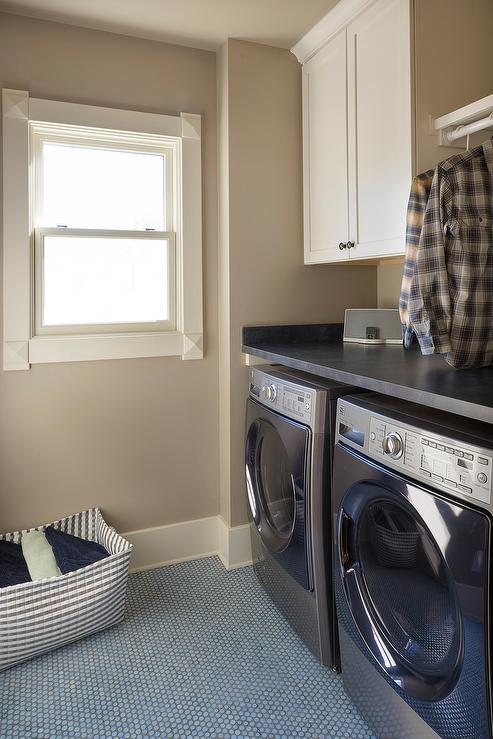 Light Blue Laundry Room Paint Colors  Transitional