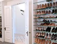 Walk In Closet with Paneled Bi Fold Wardrobe Closet Doors ...