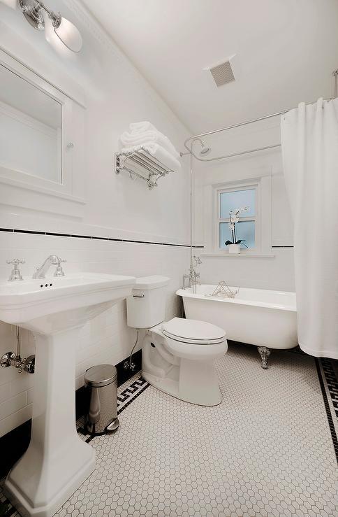 Black And White Powder Room Vintage Bathroom Ore Studios