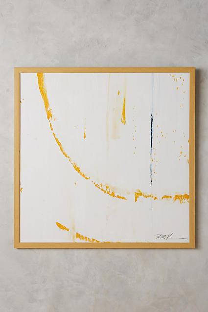 JohnRichard Collection Large White and Gold Abstract