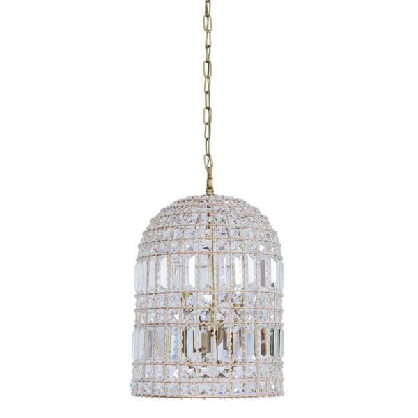 Crystal Glass Bell Chandelier View Full Size