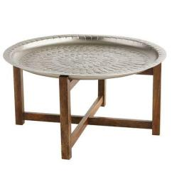Leather Round Sofa Sofas Within 10000 Moroccan Tray Table - Pottery Barn