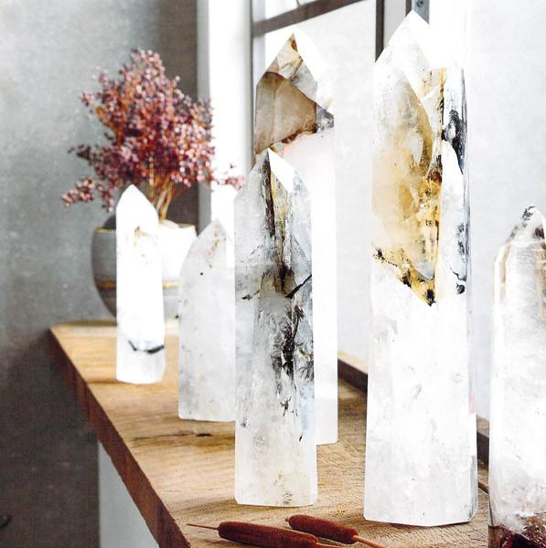Standing Quartz Crystals Decor