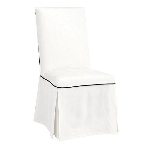 White Pleated Skirt Parsons Chair Slipcover