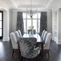Dark Blue Velvet Accent Chair Bloom Baby High Gray Dining Room With Medallion Curtains - Transitional