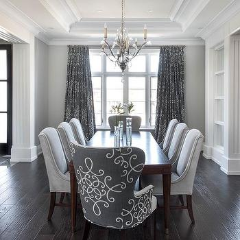 dining room curtains match chairs