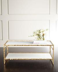 White Marble Gold Framed Coffee Table