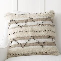 Pottery Barn Living Room Furniture Sets Paint Colors 2016 Beige Sequin Moroccan Pillow Cover