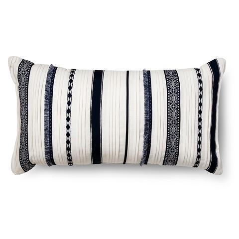 French Stripe Grain Sack Lumbar Pillow by PillowLoft on Etsy