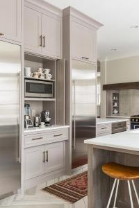 Kitchen Coffee Station with Fold In Doors - Contemporary ...