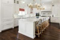 Long Gray Kitchen Island Island Farmhouse Sink Design ...
