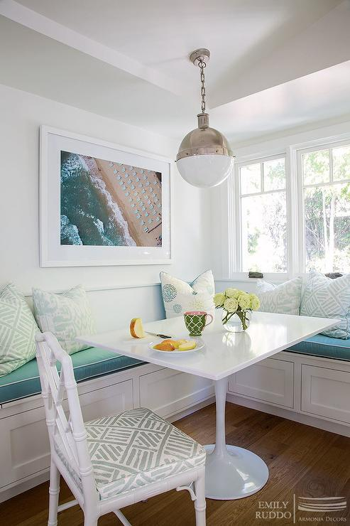Window Seat Banquette  Cottage  Dining Room  Andrew Howard Interior Design