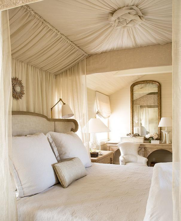 canopy bed sheer curtains design ideas