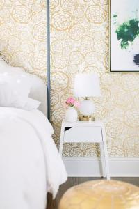White and Gold Bedroom with Hygge and West Oh Joy Petal ...
