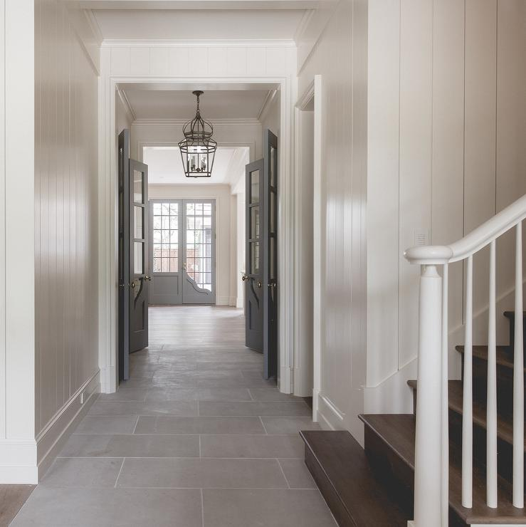 White Walls with Gray Interior Doors  Cottage  Entrance