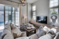 Plush Sectional with Wall to Wall TV Stand - Cottage ...