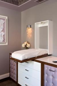 Glam Nursery with Wall Mount Concealed Drop Down Changing ...