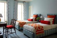Orange and Blue Kids Bedroom with Butterfly Bolster ...