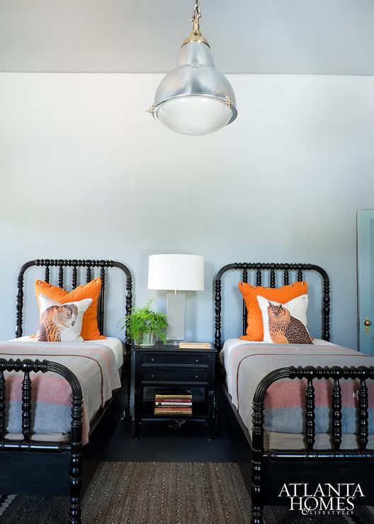 Shared Cabin Boys Bedroom with Black Spindle Beds