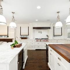 Glass Tiles For Kitchen Backsplash Pre Made Cabinets Gourmet With Three Islands - Transitional