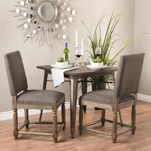 gray upholstered dining chairs tableclothsfactory chair covers reclaimed wood