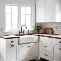 Blue and Brown Mosaic Kitchen Tiles - Contemporary - Kitchen