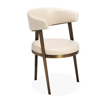 round dining chairs lucite desk chair cream upholstered back