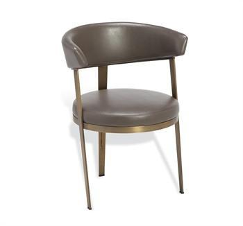 round dining chairs john deere rocking chair gray upholstered back