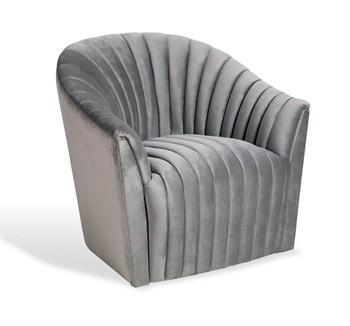 Monelle Grey Velvet Armless Chair  Overstockcom