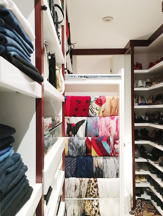Long And Narrow Walk Through Closet Design Ideas