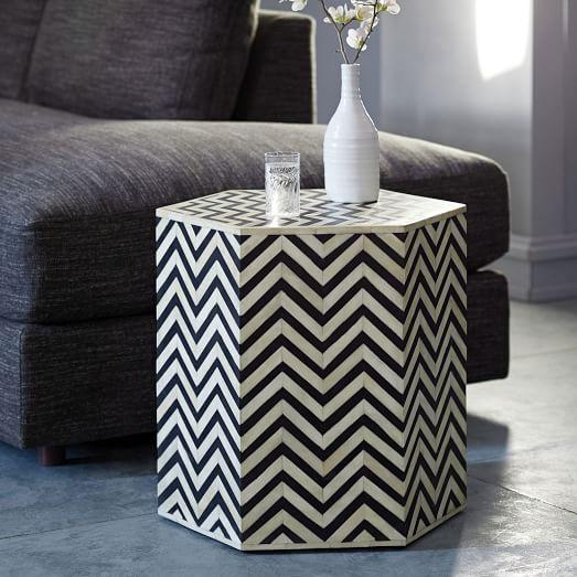 Faceted Ceramic Side Table  west elm