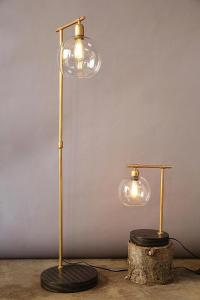 Gold Globe Floor Lamp
