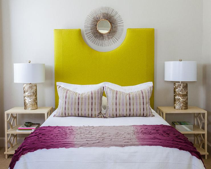 Sunburst Mirror Over Bed Design Ideas